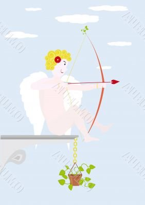 Cupid for St. Valentine`s day