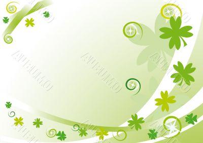 Green frame with quatrefoils