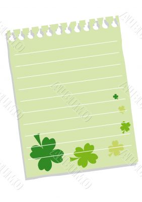 Sheet of paper with quatrefoils for St. Patrick`s day