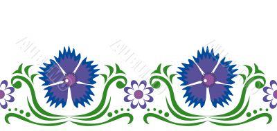 Blue cornflowers and chamomiles