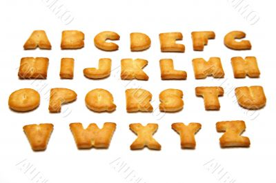 Cookies in the form of the alphabet prospect