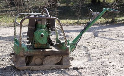 Building machine for rolling the sidewalk