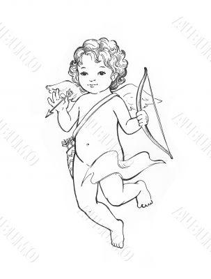 Angel baby sketch
