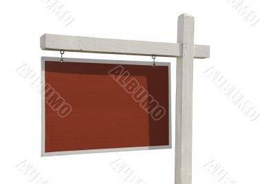 Blank Real Estate Sign Isolated