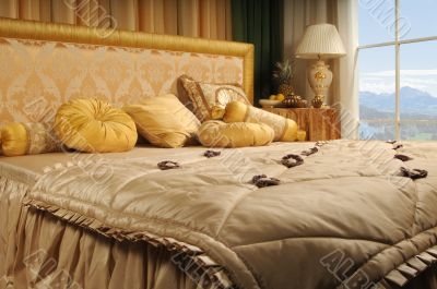 luxurious bed
