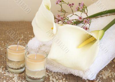 Relaxing spa scene