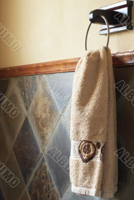 Beautiful towel in bathroom