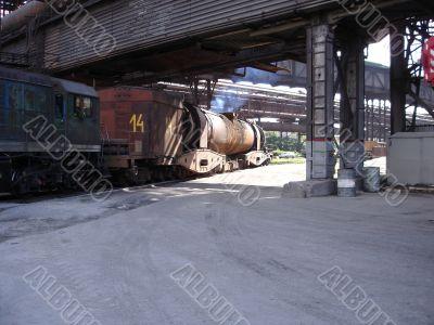 Locomotive with waggons