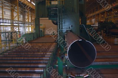 Breech production on ferrous metallurgy