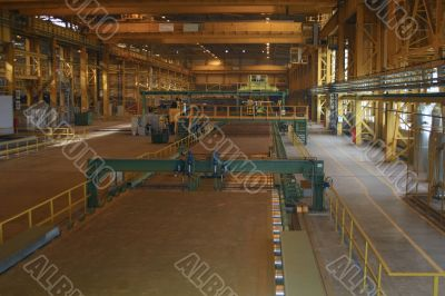 Rolled sheet production on ferrous metallurgy