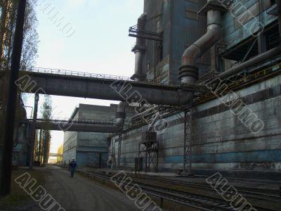 Railway on ferrous metallurgy factory