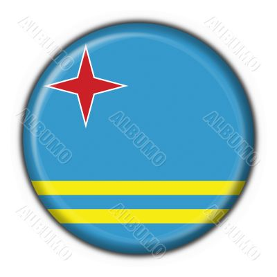 aruba button flag round shape - 3d made