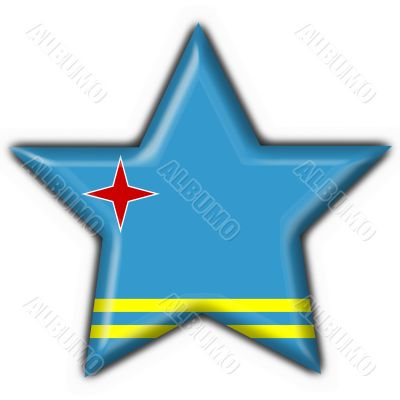aruba button flag star shape - 3d made