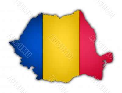 flag and map of rumania