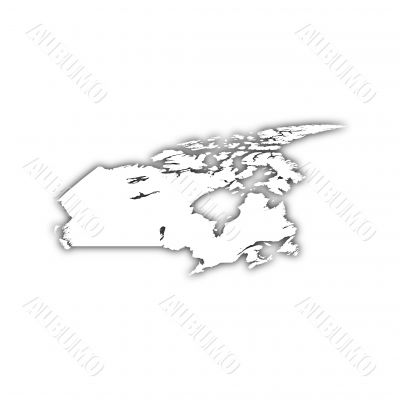 map of canada with shadow