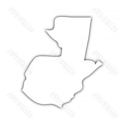 map of guatemala with shadow