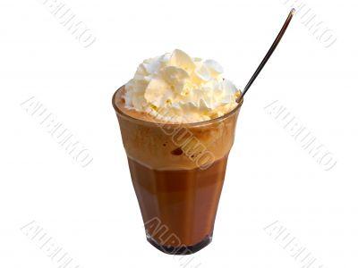 Coffee mocha with cream