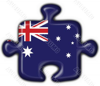 Australian button flag puzzle shape - 3d made