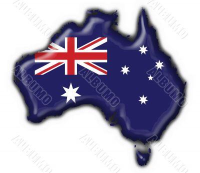 Australian button flag map shape - 3d made