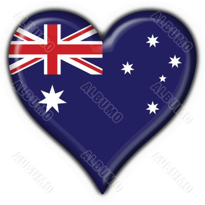 Australian button flag heart shape - 3d made