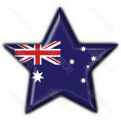 Australian button flag star shape - 3d made