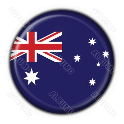 Australian button flag round shape - 3d made