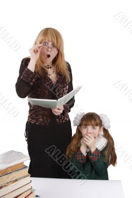 Teacher is shocked at schoolgirl`s homework.