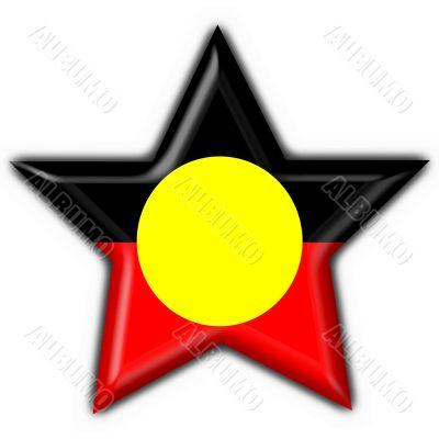 Australian Aboriginal button flag star shape