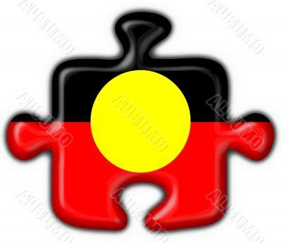 Australian Aboriginal button puzzle round shape