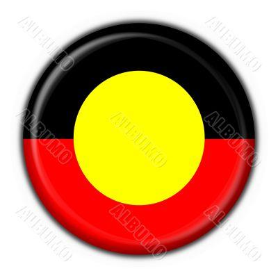 Australian Aboriginal button flag round shape