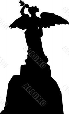 World War II Memorial silhouette