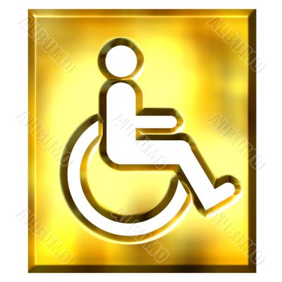 3D Golden Special Needs Sign