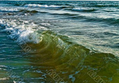 Beautiful colorful sea waves