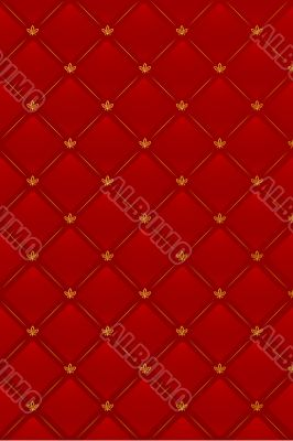Vector illustration of red leather background