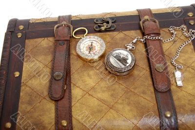 Traveling case and pocket items