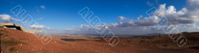 Golan heights rural landscape panorama