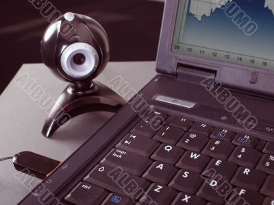 laptop and webcam