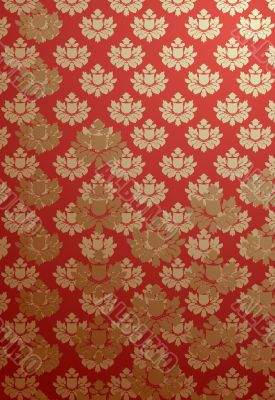 Vertical red glamour pattern