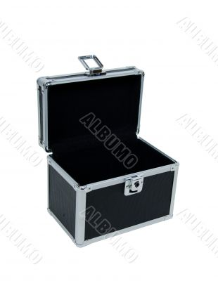 Open case with reinforced corners