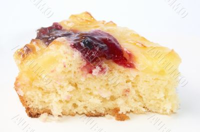 the part plum cake isolated on white