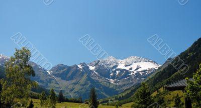 Snow top of the highest Austrian mountain