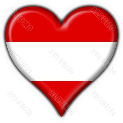 Austrian button flag heart shape