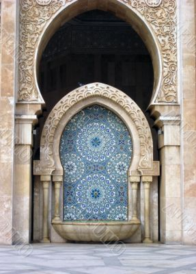element of a mosque in Morocco