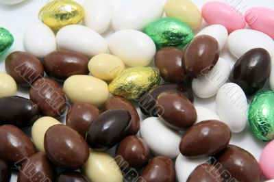 easter sugar and chocolate almonds