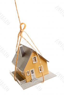 House Hanging by a String