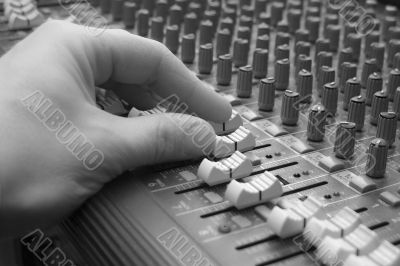 Audio Mixing Board Sliders