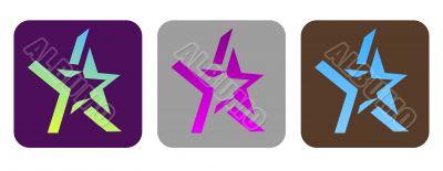 Set of vector funky stars