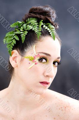 Flower eye makeup