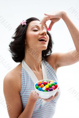 Happy candy girl
