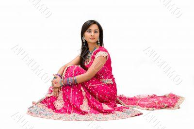 Beautiful Bangali bride sitting